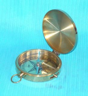 Brass Replica Pocket Compass 50mm