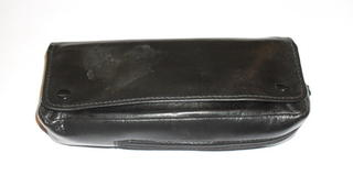 Pipe and Tobacco Leather Pouch with Flap