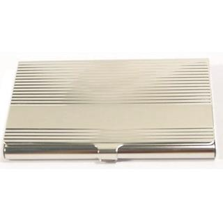 Card Holder High Polish Chrome Metal with Corrugations