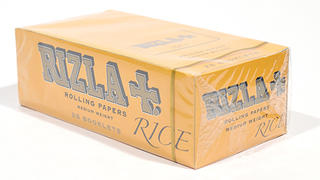 Rizla Rice Regular Yellow Double Rolling Papers Carton