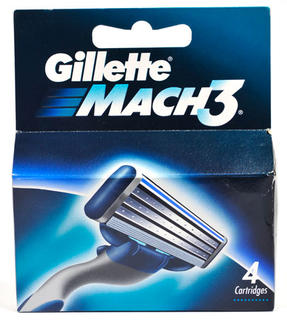 Gillette Mach 3 (Triple Blade) Refill Pack of 4