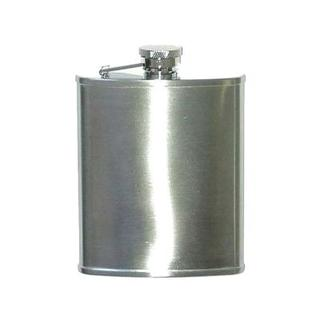 Hip Flask Brushed Chrome 5 oz Square