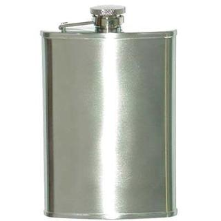 Hip Flask Brushed Chrome 8 oz