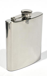 Hip Flask Polished Chrome 7 oz