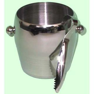 Ice Bucket with Tongs  S/S - Polished Finish