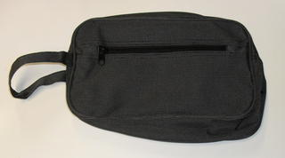 Carryall Toilet Bag Black Pindot