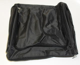 Rounded Zip Toilet Bag Black Check