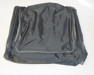 Rounded Zip Toilet Bag Grey Check