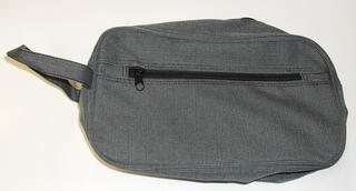 Carryall Toilet Bag Grey Pindot