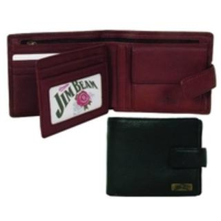 Jim Beam Wallet With Zip Note Compartment and Coin Pouch