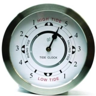 Chrome Anodised Tide Clock (200mm Diameter)