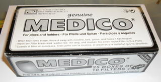 Medico 9mm Pipe Filters Carton of 25 Packs
