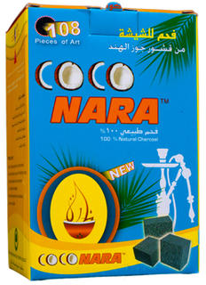 Coconara Charcoal Pack Large (108 pieces - Cube Shape)  1Kg