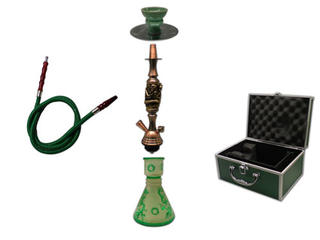 Shisha Pipe 1 Hose with Aluminium Case