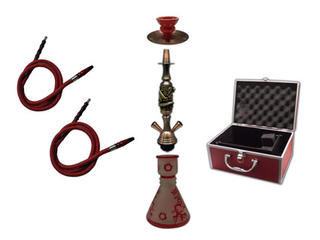 Shisha Pipe 2 Hoses with Aluminium Case