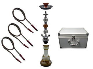 Shisha Pipe 3 Hoses with Aluminium Case
