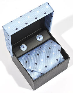 Silk Tie with Cufflinks