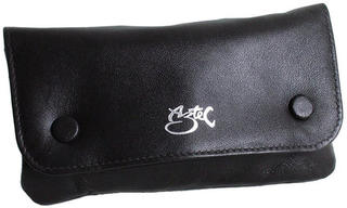 Tobacco Pouch Aztec Black Leather Double Stud (Small)