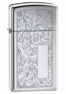Zippo Chrome High Polish Venetian (Slim)