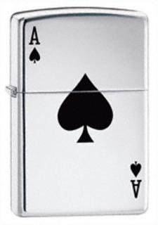 Zippo Chrome High Polish Lucky Ace