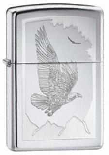 Zippo Chrome High Polish Eagle