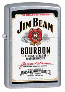 Zippo Street Chrome Jim Beam  White Label