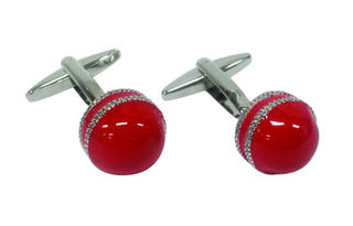 Cuff Links Cricket Ball