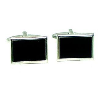 Cuff Links Black Onyx