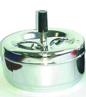 Spinning Ashtray Chrome (Medium Round) Chrome Base - 13cm Diameter