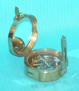 Brass Brunton Compass 76mm