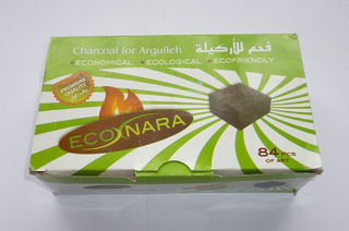 Econara Charcoal Pack (84 pieces - Flat Square) Premium Quality