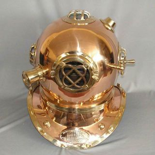 Brass N Copper Divers Helmet Full Size
