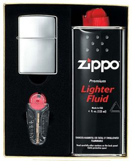 zippo gift pack including flints and refill fluid. Black Bedroom Furniture Sets. Home Design Ideas