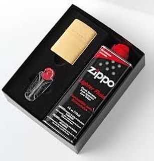 Zippo Brushed Brass Gift Pack