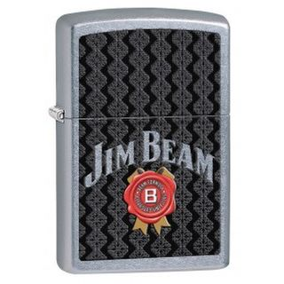 Zippo Street Chrome Jim Beam Black Label