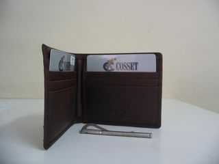 Wallet Leather Brown with Note Holder