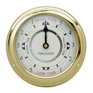 Brass Anodised Tide Clock (150mm Diameter)
