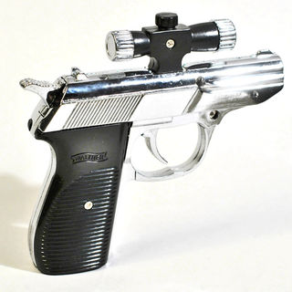 Gas Lighter - Walther Hand Gun with Laser