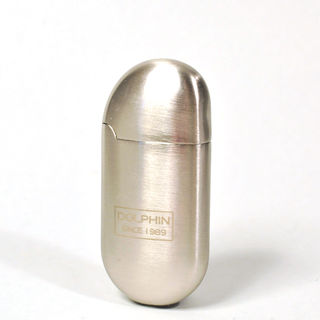 Gas Lighter Dolphin Brand Single Jet - All Satin Chrome