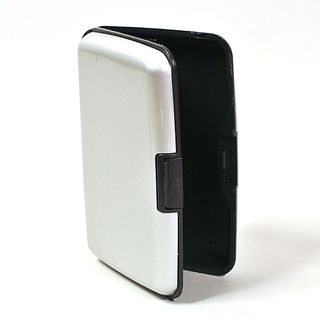 Card Holder Grey Anodised High Polish Metal