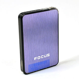 Cigarette Case with Built-in Lighter Pale Purple Anodised Street Chrome