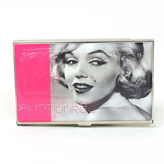 Card Holder High Polish Chrome Metal Marilyn Monroe Image