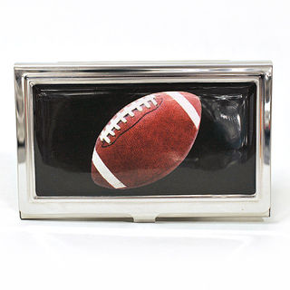 Card Holder High Polish Chrome Metal with NFL Football
