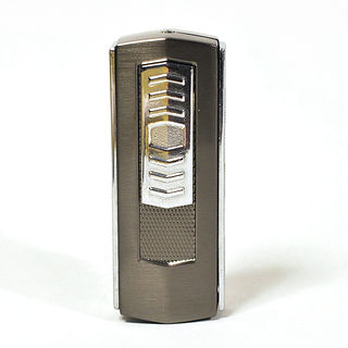 Electric Lighter USB - Standard Block in Gunmetal Finish