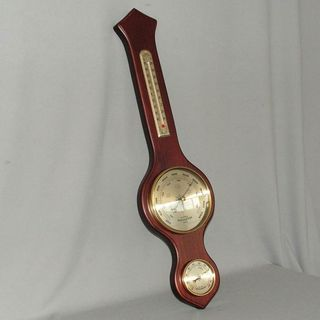Barometer/Hygrometer & Thermometer (Full Size) (Mahogany Stain)