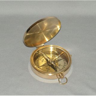 Brass Replica Pocket Compass 65mm