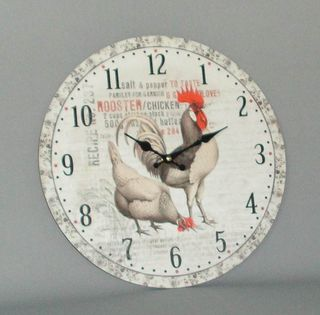 Rooster Clock (340mm Diameter)
