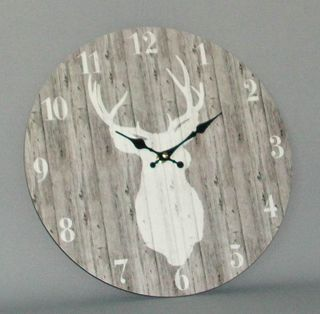 Stag Clock (340mm Diameter)
