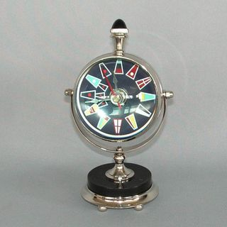 Nautical Chrome Clock (80mm Diameter x 180mm High)
