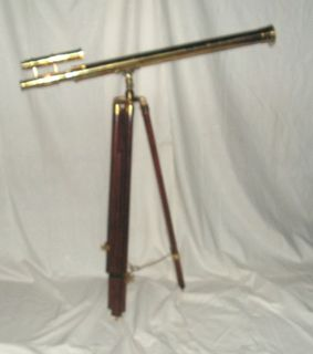 Brass Telescope on Wooden Stand (1 m)